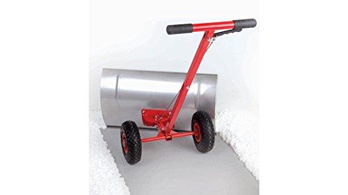 Schneeschieber mit Rädern mit 73x38cm Schneeschaufel aus Edelstahl, 119x73x40cm
