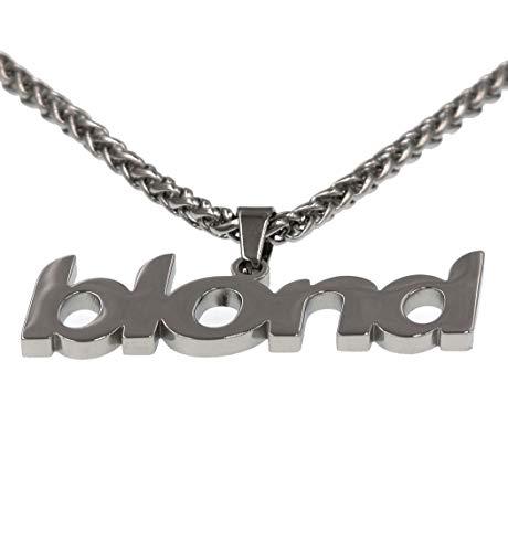 Bld Hip Hop Rapper Pendant Chain Necklace (Silver)