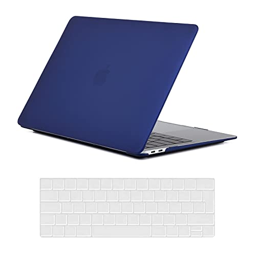 KEROM MacBook Pro 13 inch Case A1425 A1502 (Older Version 2015 2014 2013 end 2012 Release), Matte Hard Case Shell for MacBook Pro Retina 13 inch, No USB-C, No CD-ROM, Navy Blue