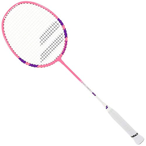 Badmintonschläger Babolat Explorer I Pink 2018 besaitet