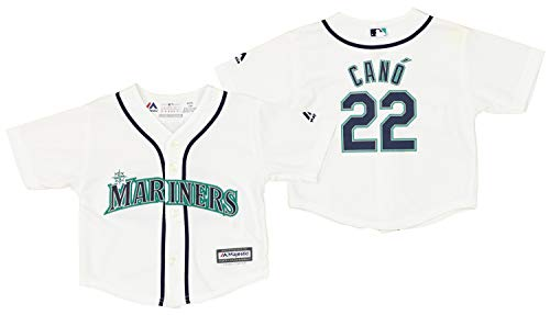 Outerstuff Seattle Mariners Robinson Cano #22 MLB Baby Boys Infant Cool Base Home Replica Jersey, White 12M