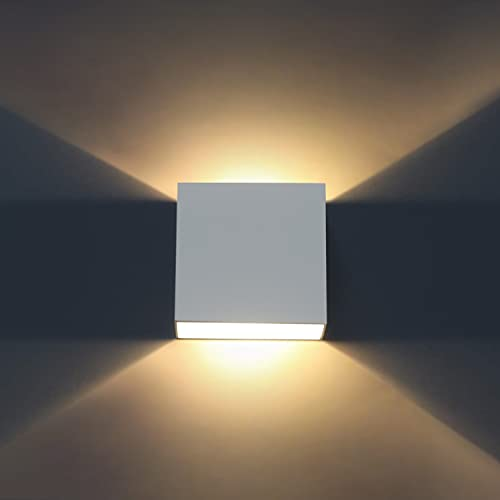 Lámpara de Pared Interior LED, Lovebay 10W Aplique Pared Moderna Lampara Pared Blanco Cálido 3000K para Salon Dormitorio Sala Pasillo Escalera