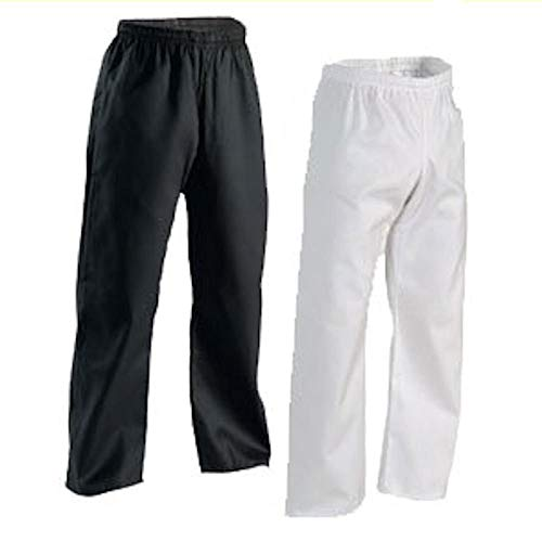 Century Martial Arts Middleweight Student Elastic Waist Pant - White, 6 - Adult X-Large