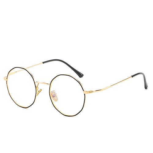 Rond frame blauw licht blokkeert bril, polycarbonaat frame van metaal, heldere lens voor anti-vermoeidheid, anti-reflecterend effect, UV400-bescherming, leesbril
