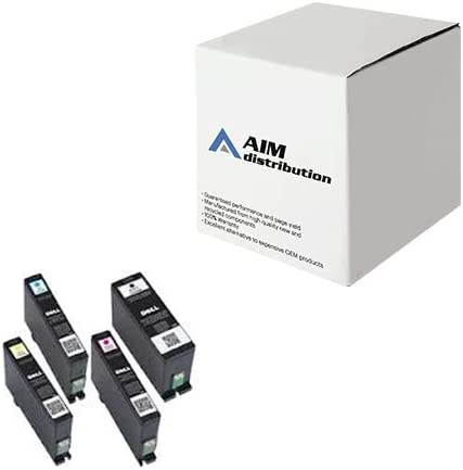 AIM Compatible Replacement for Dell V525/725W Inkjet Combo Pack (BK/C/M/Y) (Series 31) (S311B3C) - Generic