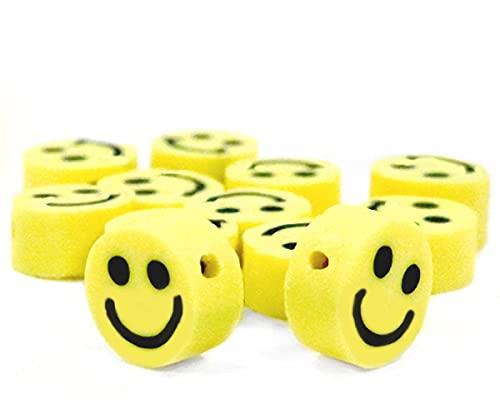 Sadingo Mini cuentas de emoticono (50 unidades, 5 mm de polímero) para enhebrar pulseras, juego para niños y adultos