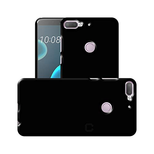 Case Creation HTC Desire 12 Plus Back case, Luxury Rubberised Matte Hard Case Back Cover for HTC Desire 12+ (2018) (5.50-inch) Color - Luxury Black