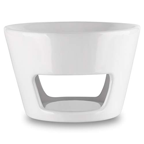 Aromabrenner - Große Duftlampe Keramik Weiß Ø 15cm - Höhe 10cm - Besten für Stressabbau - Aromatherapie - Entspannung - Spa - Aromalampe für Raumdüfte & Ätherische Öle - Duftlampe für Raumerfrischung