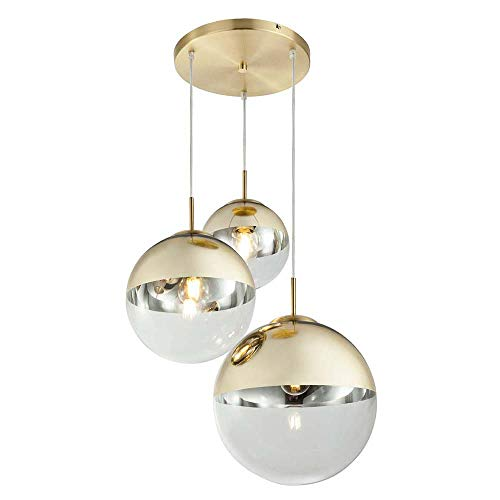 Globo Anhänger, Metall, 40 W, goldfarben
