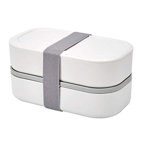 YFGQBCP Fiambrera Bento Box for Adultos, apilable Caja Bento, con Divisor, a Prueba de Fugas, Fiambrera sin BPA, microondas y lavavajillas más Segura, Simple Wash