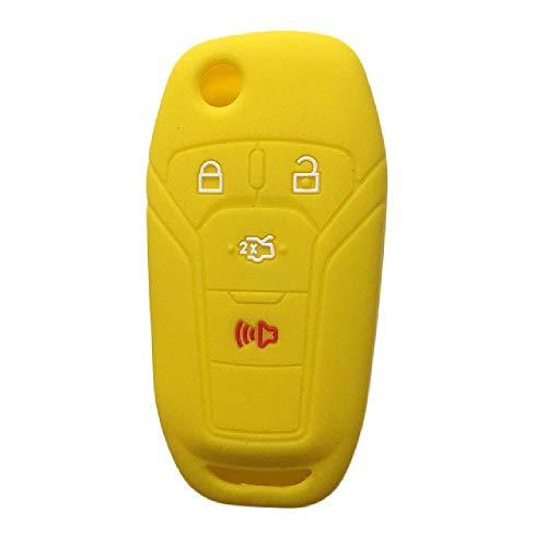 TGBVCar Key Cover Shell Skin Holder para Ford Fusion 2013 2014 2015 Mustang Fusion Fiesta Remote Flip Keys Case para Llavero de Alarma