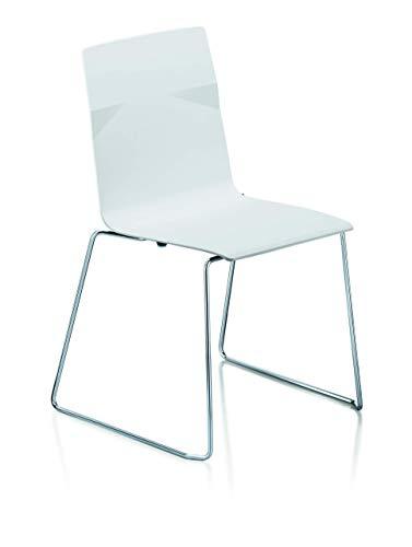 Preisvergleich Produktbild Sedus meet chair Designstuhl,  Kunststoff,  Weiß,  53 x 54 x 84 cm