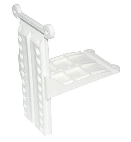 Hettich Dachschrägenadapter, 19-59°, Kunststoff weiß, 1 Garnitur/2 Stück, Artikelnr. 14004