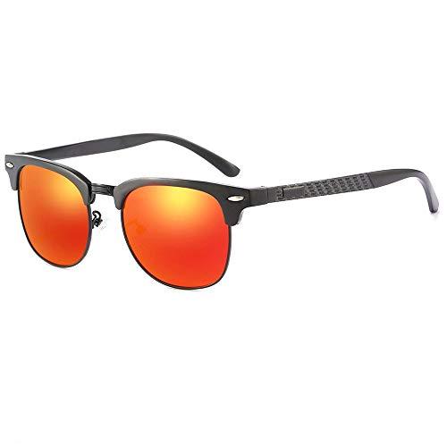 DKee Gafas de Sol Neutro De Conducción for Hombres Gafas De Sol Deportes Ciclismo Pesca Al Aire Libre Playa Gafas De Sol Polarizadas Protección UV400 contra Los Vértigos (Color : Red)