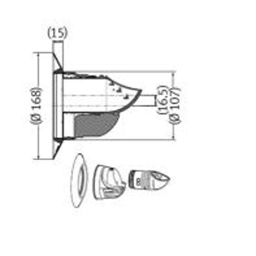 Deflector de evacuación humos con diámetro de 60 milímetros, para calderas domésticas de condensación, accesorio de evacuación, polipropileno, 20 x 10, 7 x 16, 8 centímetros (referencia: 0020219536)