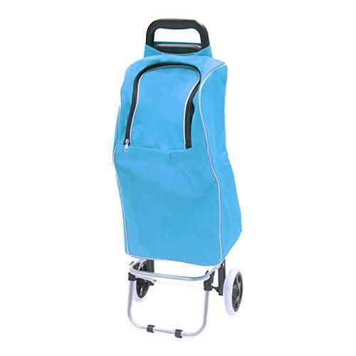 Smartfox Thermo Einkaufstrolley Trolley Shopping Trolley Shoppingtasche Einkaufsroller Einkaufshilfe mit Kühltasche in türkis