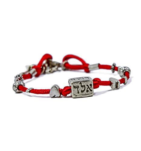 MIZZE Made for Luck Jewellery 72 nombres rojo cuerdas Cábala Cube pul