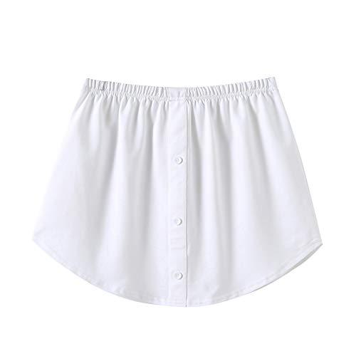 KnuraLA Conjunto de falda de barrido inferior superior falso de capas ajustables Falda de media longitud dividiendo una versión Extender Mini falda para suéter Sudadera Chaqueta Abrigo