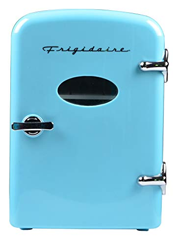 Frigidaire Retro Mini Compact Beverage Refrigerator, Great for keeping office lunch cool! (BLUE)