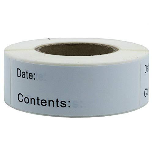 Kingsie ラベルシール ラベル用紙 ロールシール(125枚) 長方形 ホワイト 期限シール 期限管理 食材管理 在庫管理 ロール仕様 ステッカー 自宅用 業務用 (6A)