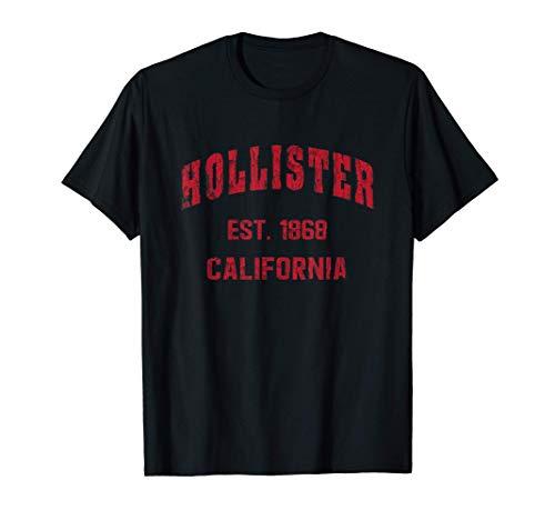 Hollister, California Home Souvenir . EST. 1868 . Red Camiseta