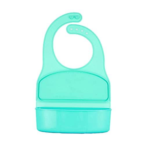 adfafw Silikon-Babylätzchen Fütterlätzchen Mit Breiter Futterkrümel-Auffangtasche Für Mädchen Und Jungen Im Alter Von 6 Monaten Bis 3 Jahren (Rosa/Grün) Improved