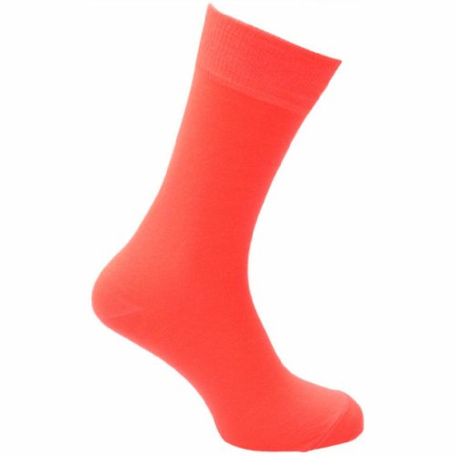 HDUK Mens Socks Herren Socken, Einfarbig Orange Orange