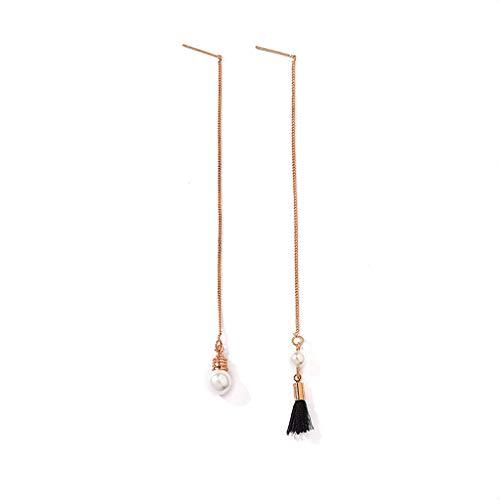 Haptian oorclip, hangende lange hanger hartvormige ster parels kwast kettingdruppel-oorbellen vrouwen sieraden 9#
