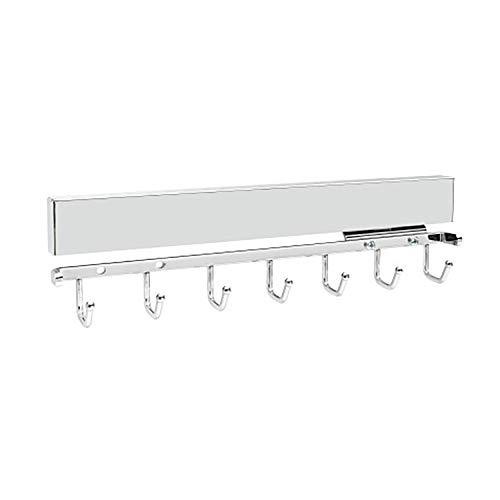 Rev-A-Shelf Sidelines CBRSL-14-CR-1 14-Inch Pullout Sliding Deluxe Belt, Scarf, Tie, Accessory Organization Rack Holder Hanger with 7 Hooks, Chrome