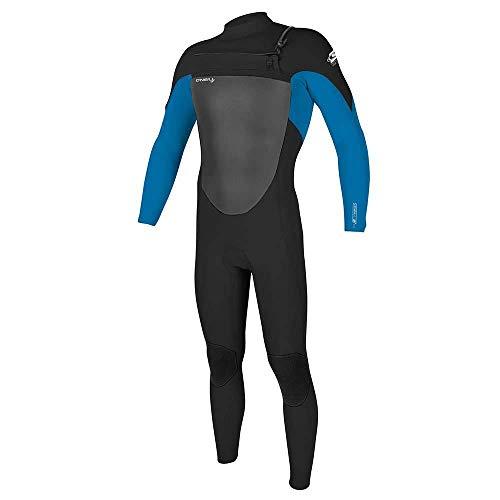 O';Neill heren Epic 4/3 4/3mm wetsuit met Chest Zip Zwart helderblauw - dubbele super seal hals - externe sleutelzak met lus