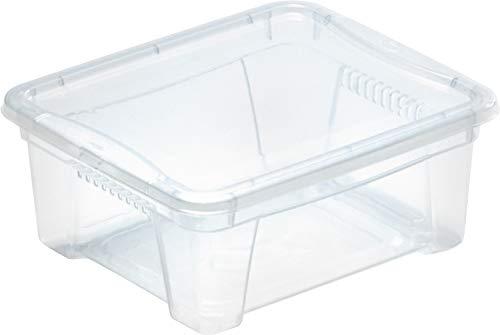 M Home Caja de Almacenaje 1 1.9 l, Translúcido, 20x17.5x9 cm