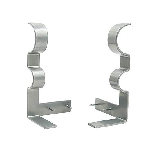 Winnerruby - Soporte para barra de cortina doble con barra de metal de alto rendimiento (3 unidades)