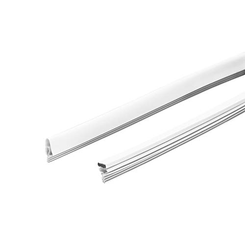 Frost King MDS17H Magnetic Door Seal Replacement for Kerfed Doors, 2 pcs-7 ft, 1 pc-3 ft, White