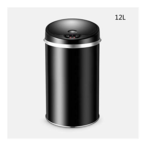 Cubo de Basura Basura de acero inoxidable con tapa de basura de sensor inteligente de tapa de basura para el hogar Cesta de papel de la oficina de la oficina de la oficina de la oficina de la oficina