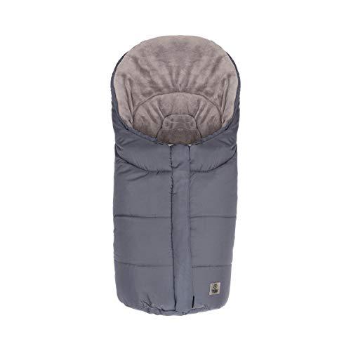 BABYCAB Winter-Fußsack'Eiger' grau/Thermo-Fußsack mit Reißverschluss - für Babyschale, Tragewanne, Buggy und Kinderwagen