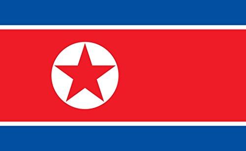 Durabol Bandera de Corea Norte 150 x 90 cm Flag Satén