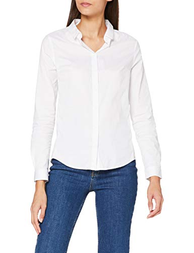 French Connection Eastside Cotton LS Shirt Camicia, Bianco (Winter White 10), 44 Donna