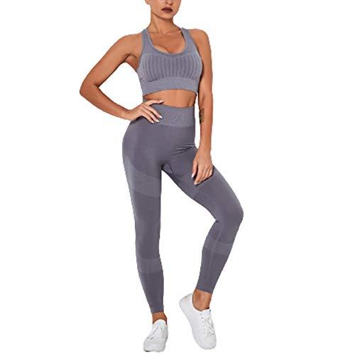Cwang Pack Comodidad Sujetador Mujer niña Sujetador Superior sin Costuras Dormir Yoga Chaleco elástico,Gris,L