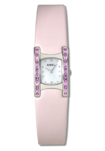 Beluga Manchette Pink Sapphire Case Mother of Pearl Dial Diamonds