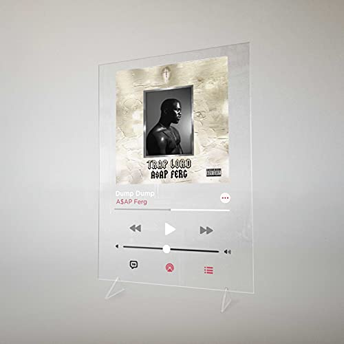 ASAP Ferg - Trap Lord, Dump Dump Apple Music Plexiglass Poster Table Stand Print on transparent Acrylic (A5 - 8.3 x 6.8 inches)