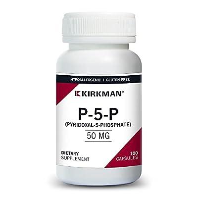 Kirkman P-5-P (Pyridoxal 5-Phosphate, Vitamin B-6 Metabolite) 50 mg - Hypoallergenic 100 Vegetarian Capsules