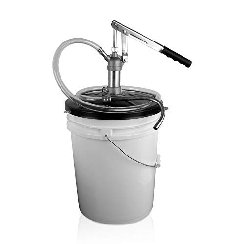 TERAPUMP Professional Lever Action Wear-Resistant Brass Steel Pail Can Bucket Pump for Most of Types of Oil (Gear, Transmission, Motor)