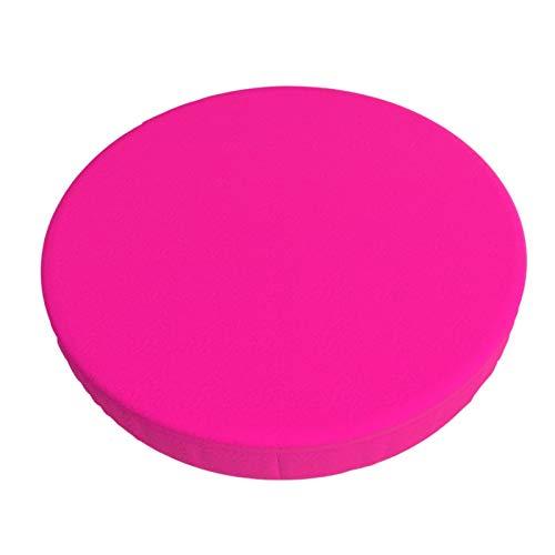 Decams Funda de cojín redonda para taburete de bar de color sólido, color rosa, ilusiones, para cocina, bar, oficina, comedor