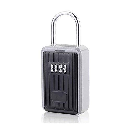 Hammer Clave de almacenamiento de montaje en pared rectángulo del bloqueo, la manija de la puerta con el gancho libre de la instalación llave de caja de almacenamiento, con 4 combinación del dígito de