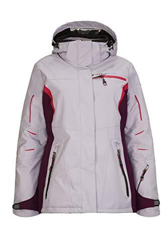 Killtec Corinne ski-jack voor dames, snowboardjas, functionele jas met afritsbare capuchon en sneeuwvanger, donkerblauw, 46