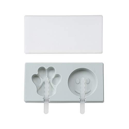 Huiyoo Eis am Stiel Formen - Wiederverwendbare Saft Ice Pop Formen Maker - Eisbehälter Schokolade Lutscher Formen für Kinder Sommer Home Küchengeräte(BL3)