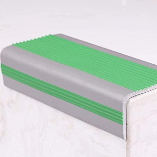 Borde de escalera antideslizante de 100 cm/39 pulgadas, borde antideslizante para escaleras, tira antideslizante para bordes de escalera en forma de L
