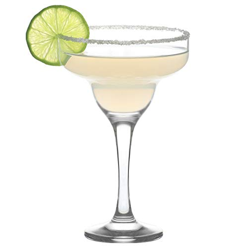LAV 6-Piece Margarita & Daiquri Glasses 10 Ounce Clear Lead-Free Coctail Glasses for Parties