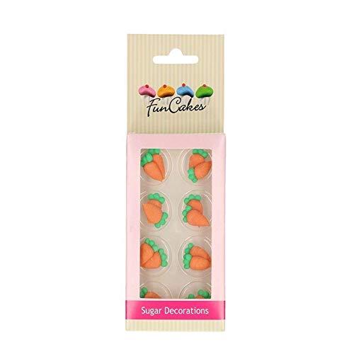 FunCakes - Decoración de azúcar con zanahorias (16 unidades)