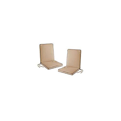 Lot de 2 Coussins de fauteuil déhoussables OUTDOOR 90x42x5 cm taupe & anthracite